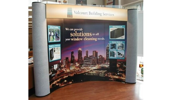 PU013 - Custom Pop-Up Trade Show Booth for Service & Trade Organizations